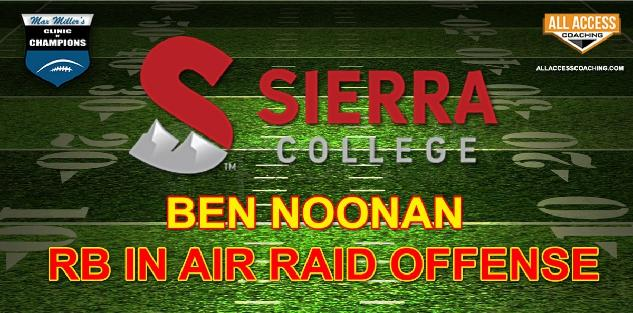 USING RB in AIR RAID OFFENSE - Sierra College