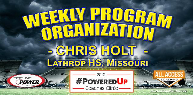 WEEKLY PROGRAM ORGANIZATION - Lathrop HS, Missouri