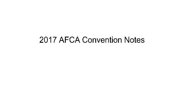 2017 AFCA Convention Notes