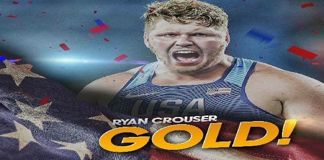 Ryan Crouser Gold Medal Shot Put Technique