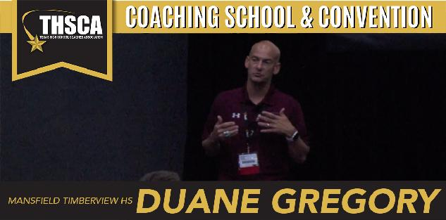 Duane Gregory, Mansfield Timberview HS: Timberview Truths – It's The Little Stuff (Transition Game/Handling Pressure/Chemistry)