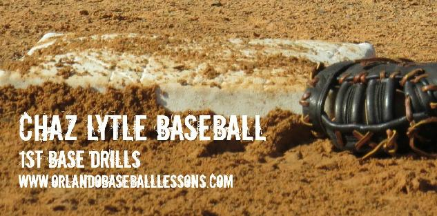 First Base Drills with Chaz Lytle Baseball