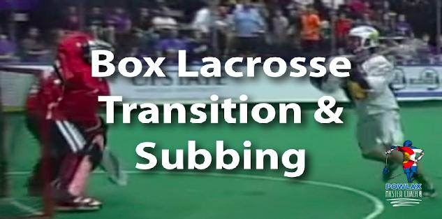 Box Lacrosse Transition and Subbing | POWLAX