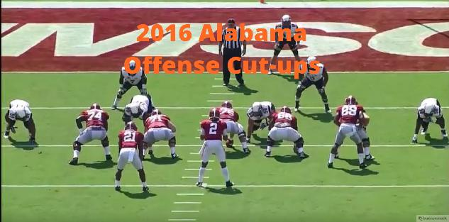 2016 Alabama Offensive Play Cut Ups