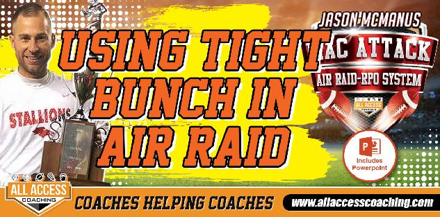 Utilizing Tight Bunch Formations to maximize your Run and Passing Game in the Air Raid Offense