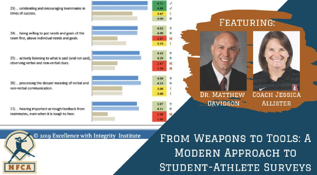 From Weapons to Tools: A Modern Approach to Student-Athlete Surveys with Matt Davidson P.h.D., and Jessica Allister