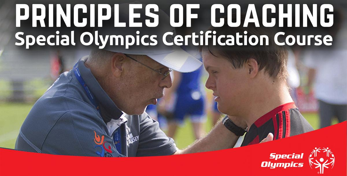 Special Olympics Certification Course: Principles of Coaching
