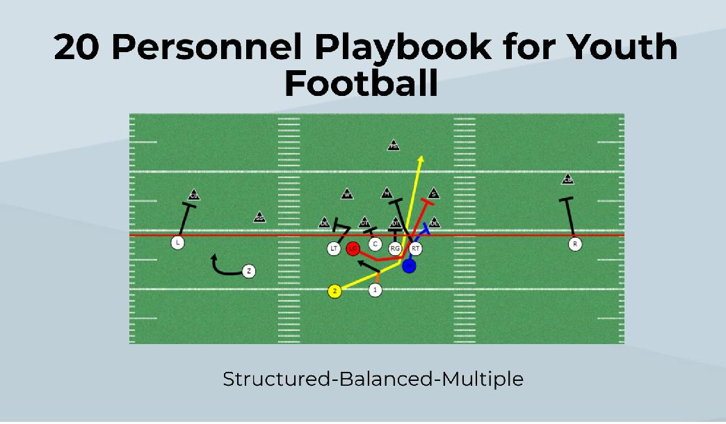 20 Personnel Playbook For Youth Football Spread Offense By Jeff