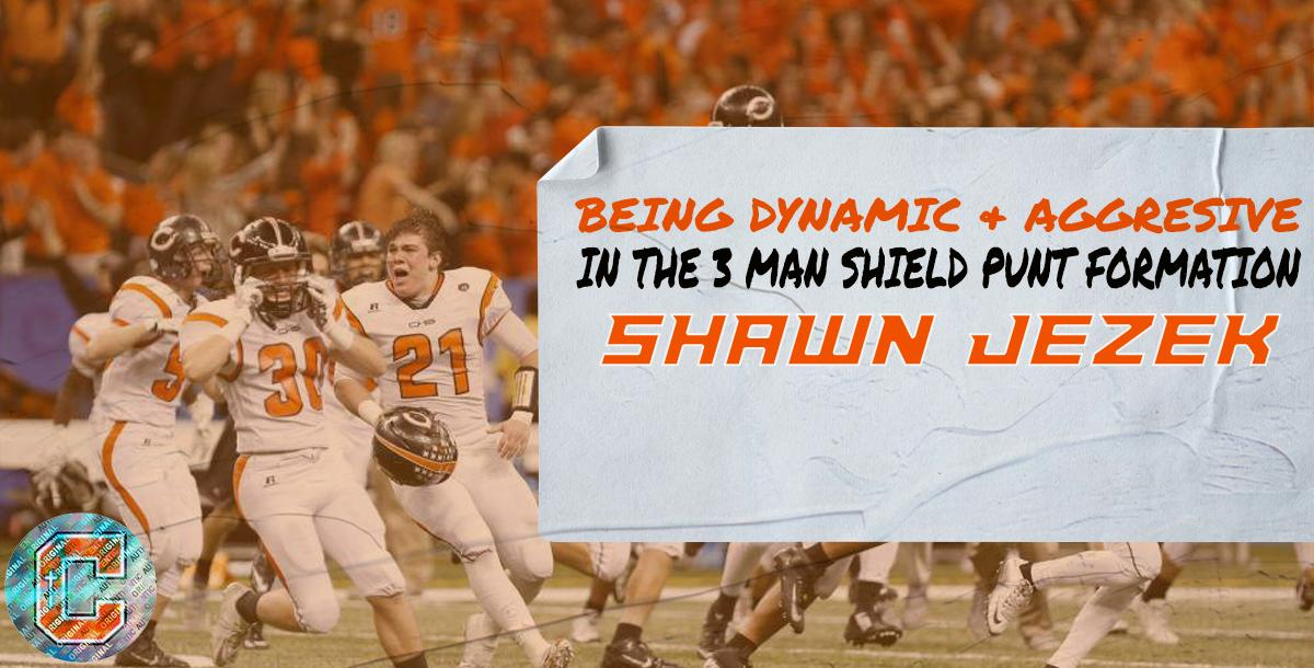 Being Dynamic & Aggressive in the 3 man Shield Punt Formation- Shawn Jezek