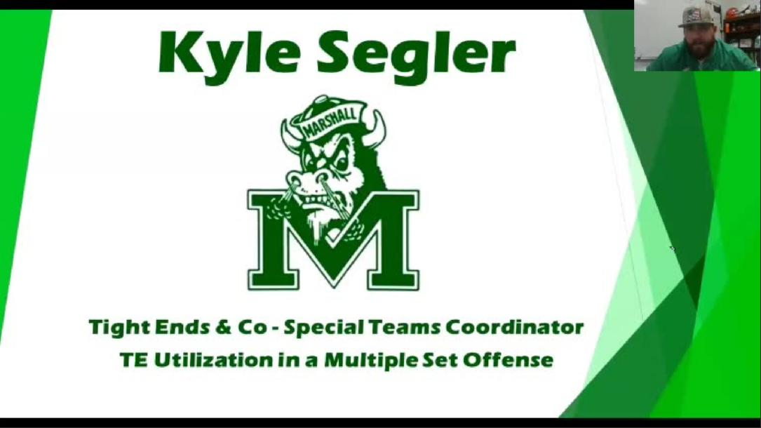 Kyle Segler - TE Utilization in Multiple Set Offense