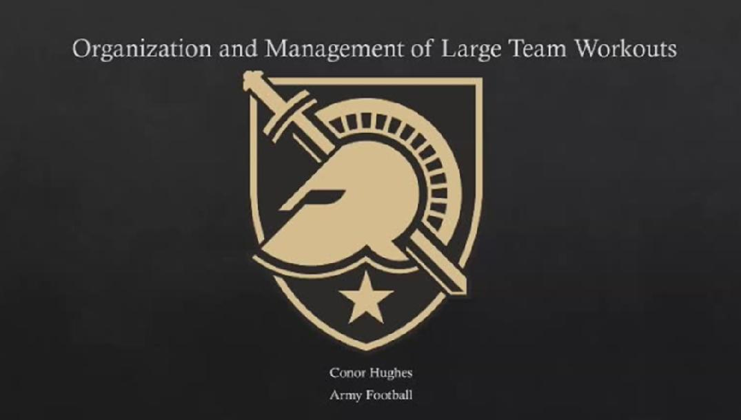 Conor Hughes- Organization and Management of large teams in the weightroom