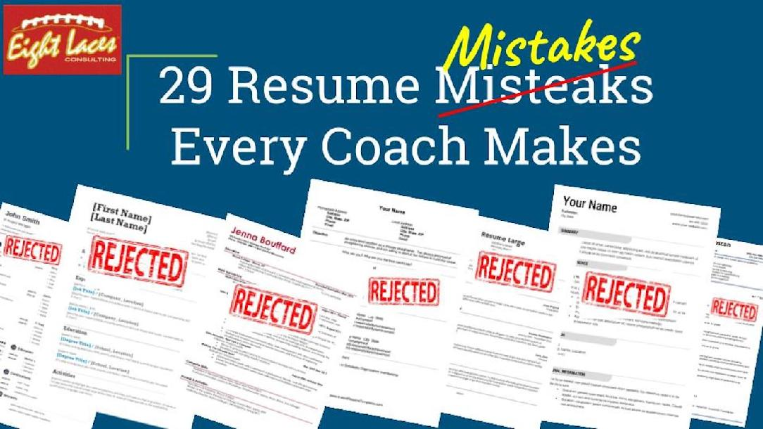 29 Resume Mistakes Every Coach Makes And How To Avoid Them By Chris. 29 Resume Mistakes Every Coach Makes And How To Avoid Them. Resume. Resume Mistakes At Quickblog.org