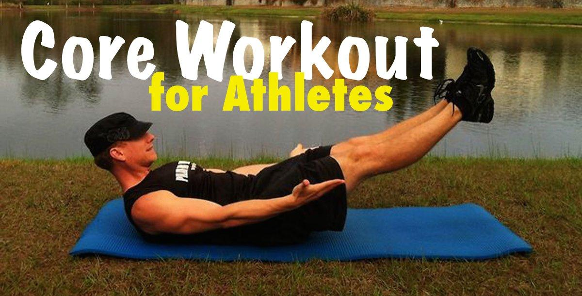 Learn to Barbell Squat--man working on core