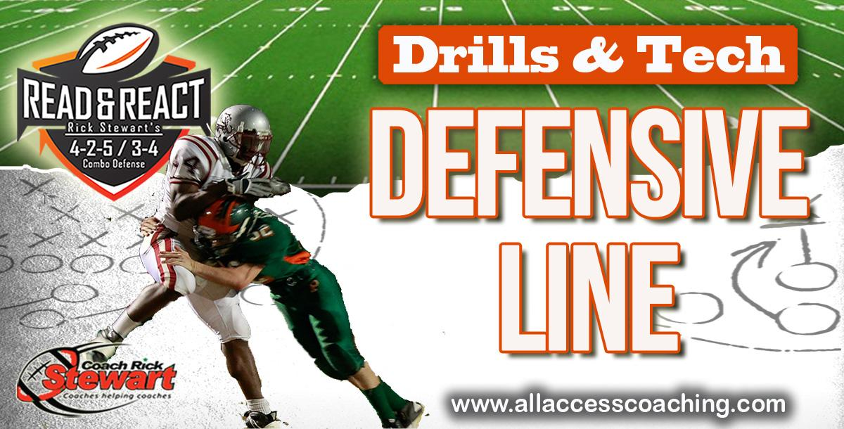 Defensive Line Drill Technique Manual By Rick Stewart Coachtube