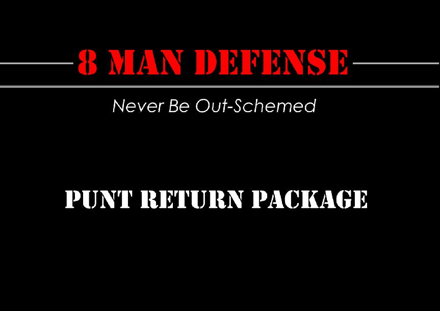 8 Man Football Punt Return Package
