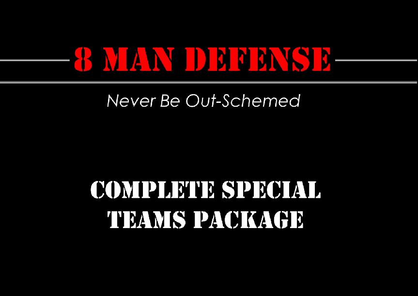 8 Man Football Complete Special Teams Package