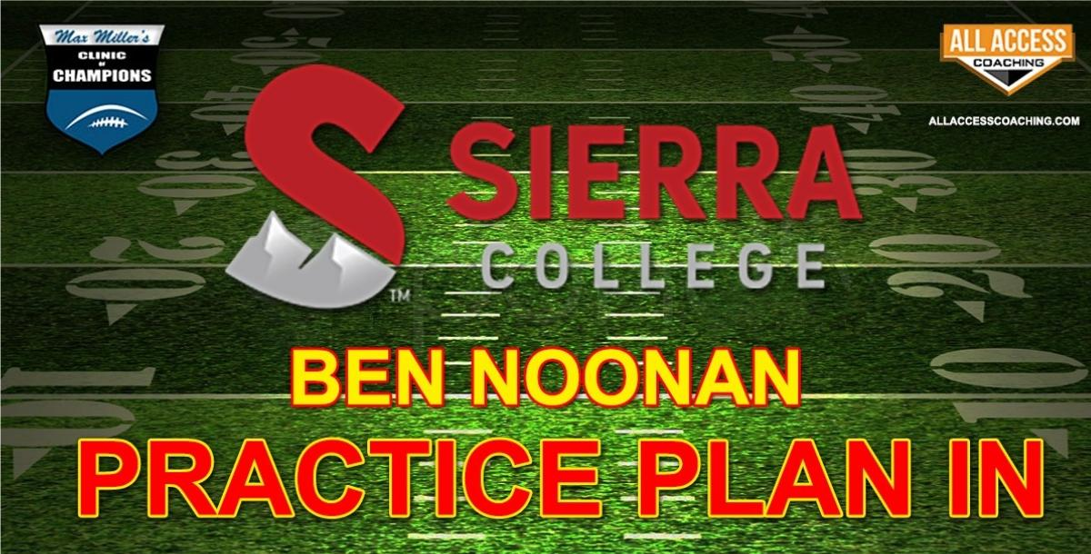 PRACTICE PLANS for the SPREAD OFFENSE - Sierra College