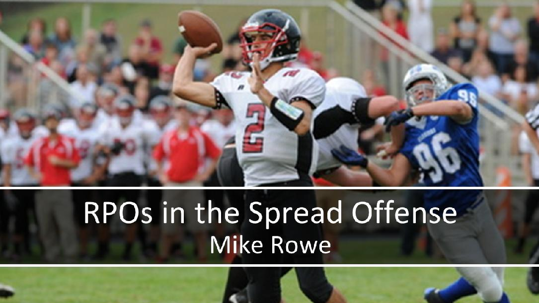 Run Pass Options (RPOs) in the Spread Offense