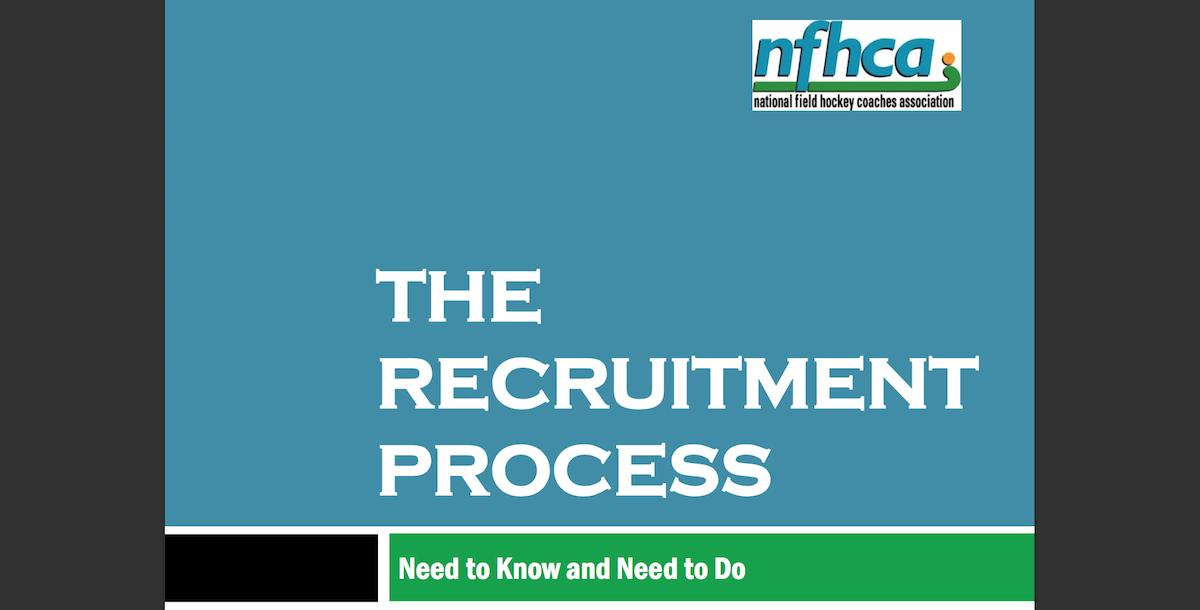 NFHCA Recruiting Process